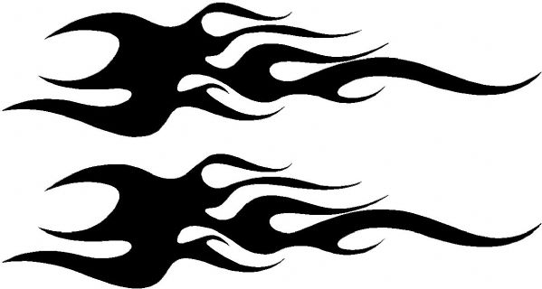 Vehicle Graphic Decal FLAME Design 11